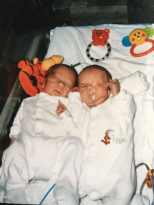 Oliver and Harry as premature babies
