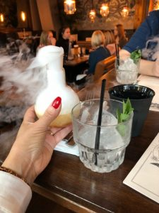 hen weekend at the alchemist. A smoking lightbulb moment cocktail