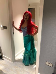 hen weekend. Emily as the little mermaid