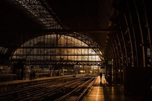 An old train station looks deserted