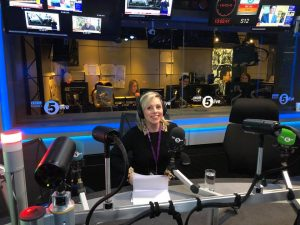 When I die - I am sitting at the presenting desk at Radio 5 live