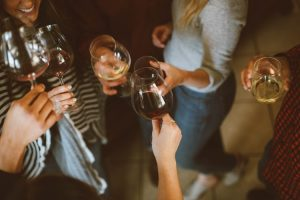 Parents of children with additional needs get it - Friends drinking wine