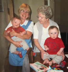 My mum and Nan with my boys aged 18 months
