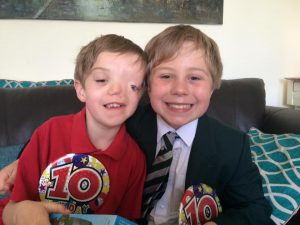 What to buy the child who wants nothing - my boys on their 10th bithday both wearing huge badges