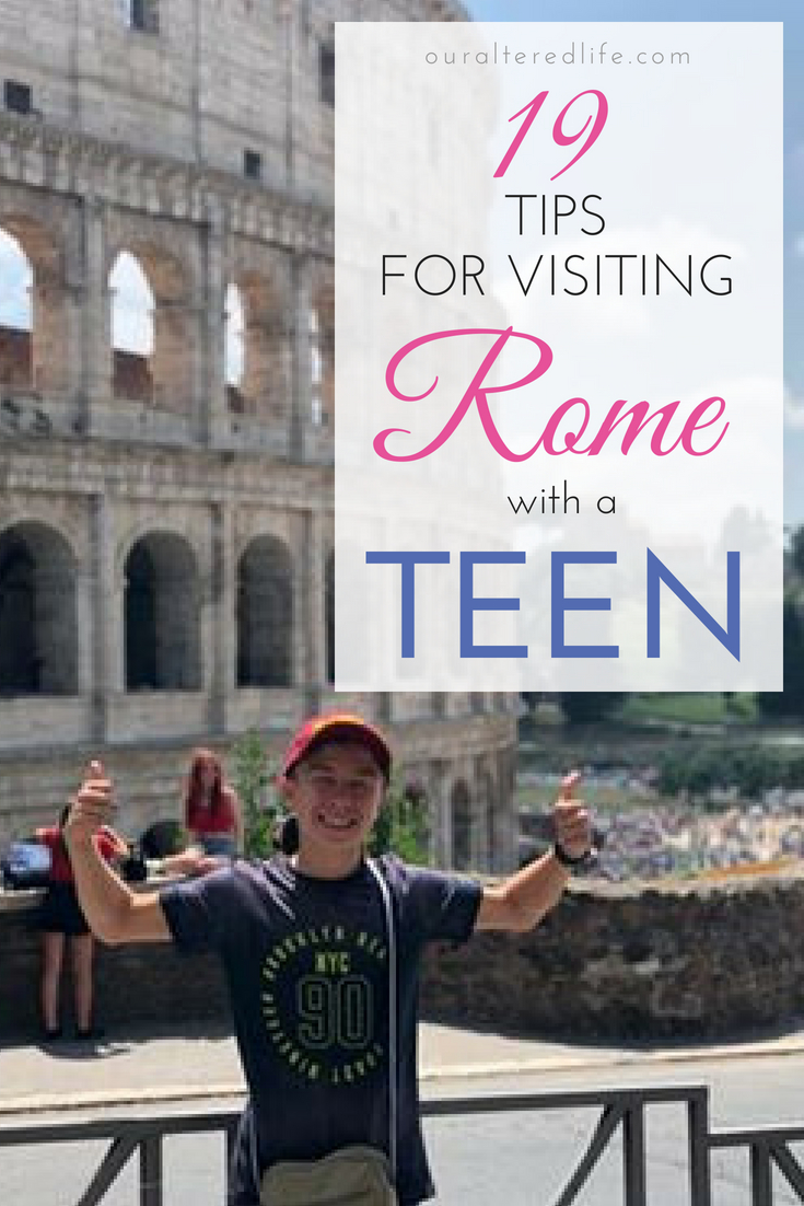 19 tips for visiting Rome with a teen - or anyone else! #travel #Italy