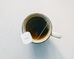 NHS heroes - a cup of tea with a tag saying 'kindness is the gift of life'