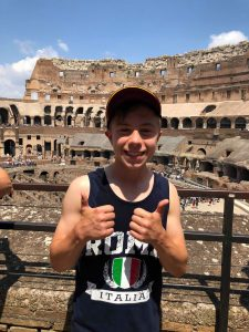 Visit Rome - A very happy Oliver in the Colosseum