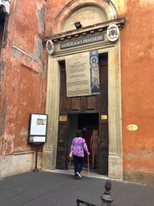 Visit Rome - the outside of Basilica di S. Prassede