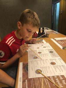 Young aviators day -Harrison checks out the menu