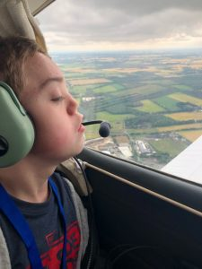 Young aviators day - Harry admires the view from approx 1700 feet