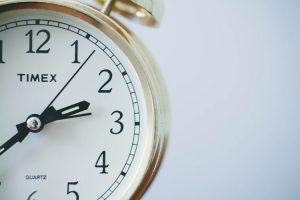 school holidays - a clock