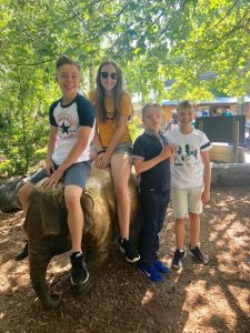 Chester Zoo - The children on the elephant figure