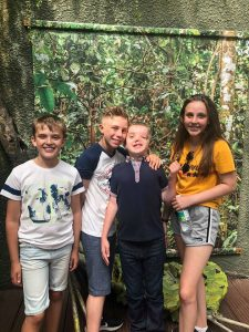 Chester Zoo - The children smile in the 'rainforest'