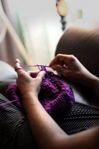 left handed - knitting