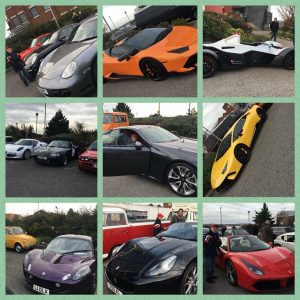 the Lake District - A selection of sports cars