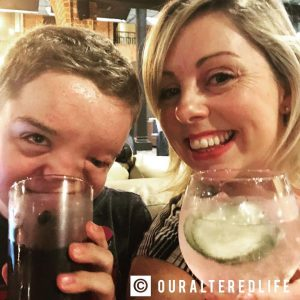 10 things about my boy - HArrys and me laughing together over a drink