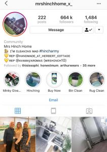 The rise of Mrs Hinch - Mrs Hinch's account