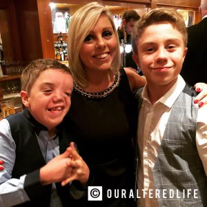struggling with anxiety - me and my gorgeous boys at an awards evening