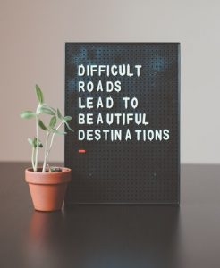 you've got this - a quote that says difficult roads lead to beautiful destinations