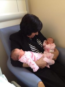 Beths Mom and her twin granddaughters