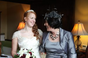 Beth and her Mom on her wedding day