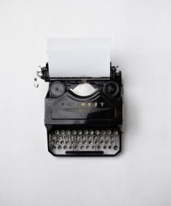 Life after divorce - a typewriter