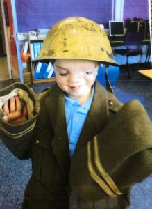 HArry in WW2 clothes