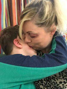 NHS Staff - me kissing Harry as he hugged me