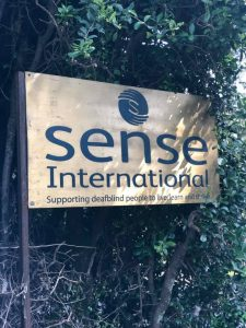 Kenya - Sense Internaltional Sign outside the building