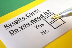 Respite care: do you need it? tick box